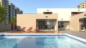 Swimming pool caustics