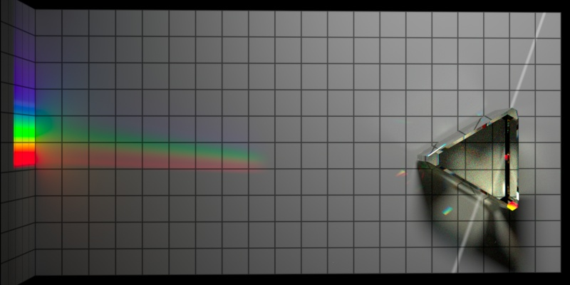 Un-dispersion of dispersion, top-down, with ambient light