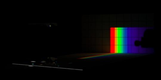 Un-dispersion of dispersion, overview, no ambient light.