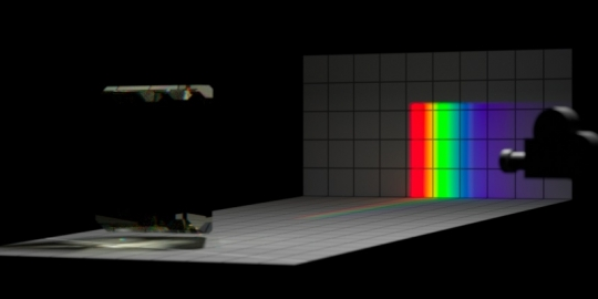 Un-dispersion of dispersion, overview, with ambient light.